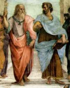Рафаель. Афінська Школа (фрагмент фрески)