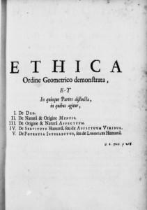 """Бенедикт Спиноза """"Этика, доказанная в геометрическом порядке"""""""